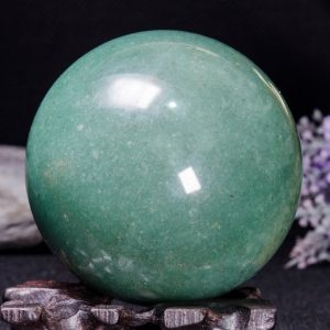 """Shop Aventurine Shapes! 2.8""""Natural Aventurine Sphere/Green Aventurine Ball/Crystal Healing/Calm/Comfort/Metaphysical Energy/Special Gift/Chakra-70mm-470g#4614   Natural genuine stones & crystals in various shapes & sizes. Buy raw cut, tumbled, or polished gemstones for making jewelry or crystal healing energy vibration raising reiki stones. #crystals #gemstones #crystalhealing #crystalsandgemstones #energyhealing #affiliate #ad"""