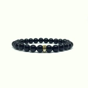 Black Tourmaline bracelet – protection – dainty bracelet | Natural genuine Array bracelets. Buy crystal jewelry, handmade handcrafted artisan jewelry for women.  Unique handmade gift ideas. #jewelry #beadedbracelets #beadedjewelry #gift #shopping #handmadejewelry #fashion #style #product #bracelets #affiliate #ad