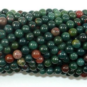 Shop Bloodstone Beads! Indian Bloodstone Beads, 4mm(4.3mm) Round Beads, 15.5 Inch, Full strand, Approx 98 beads, Hole 0.8mm (284054005) | Natural genuine round Bloodstone beads for beading and jewelry making.  #jewelry #beads #beadedjewelry #diyjewelry #jewelrymaking #beadstore #beading #affiliate #ad