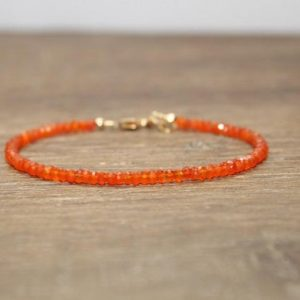 Carnelian Bracelet, Carnelian Jewelry, Stacking, Bracelets For Her. Gemstone Jewelry, Gifts | Natural genuine Carnelian jewelry. Buy crystal jewelry, handmade handcrafted artisan jewelry for women.  Unique handmade gift ideas. #jewelry #beadedjewelry #beadedjewelry #gift #shopping #handmadejewelry #fashion #style #product #jewelry #affiliate #ad