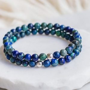 Shop Chrysocolla Bracelets! Chrysocolla Bracelet 6mm | Communication, Expression, Empowerment | Authentic Chrysocolla Bracelet | Natural Beaded Gemstone Bracelet | Natural genuine Chrysocolla bracelets. Buy crystal jewelry, handmade handcrafted artisan jewelry for women.  Unique handmade gift ideas. #jewelry #beadedbracelets #beadedjewelry #gift #shopping #handmadejewelry #fashion #style #product #bracelets #affiliate #ad