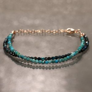 Shop Chrysocolla Bracelets! African Turquoise Bracelet Delicate Chrysocolla Blue Gemstone Skinny Stacking Jewelry Handmade Gemstone Jewelry Gift for mom, Beads Bracelet | Natural genuine Chrysocolla bracelets. Buy crystal jewelry, handmade handcrafted artisan jewelry for women.  Unique handmade gift ideas. #jewelry #beadedbracelets #beadedjewelry #gift #shopping #handmadejewelry #fashion #style #product #bracelets #affiliate #ad