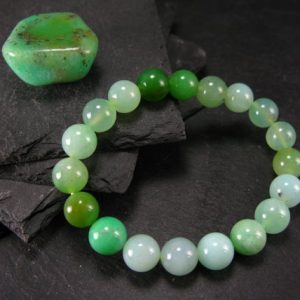 Shop Chrysoprase Bracelets! Chrysoprase Genuine Bracelet ~ 6.5 Inches  ~ 10mm Round Beads | Natural genuine Chrysoprase bracelets. Buy crystal jewelry, handmade handcrafted artisan jewelry for women.  Unique handmade gift ideas. #jewelry #beadedbracelets #beadedjewelry #gift #shopping #handmadejewelry #fashion #style #product #bracelets #affiliate #ad