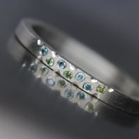 Women's Platinum Green Blue Diamond Wedding Band Modern Underwater Ocean Romantic Luxurious Minimalistic Bridal Ring Hers – Mermaid Bubbles | Natural genuine Gemstone jewelry. Buy handcrafted artisan wedding jewelry.  Unique handmade bridal jewelry gift ideas. #jewelry #beadedjewelry #gift #crystaljewelry #shopping #handmadejewelry #wedding #bridal #jewelry #affiliate #ad