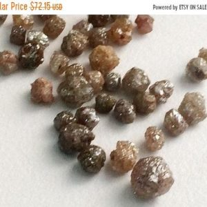 Shop Diamond Rondelle Beads! 3-6mm Brown Rough Diamond Rondelles, Brown Raw Diamonds, Loose Diamonds, 4 Pcs Rough Diamonds For Jewelry – Ds77 | Natural genuine rondelle Diamond beads for beading and jewelry making.  #jewelry #beads #beadedjewelry #diyjewelry #jewelrymaking #beadstore #beading #affiliate #ad