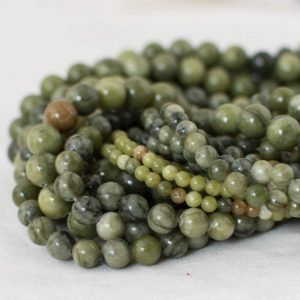 "Shop Jade Round Beads! High Quality Grade A Natural Green Jade Semi-precious Gemstone Round Beads – 4mm, 6mm, 8mm, 10mm sizes – 15.5"" strand 