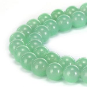 "Shop Jade Round Beads! Light Green Dyed Jade Smooth Round Beads 4mm 6mm 8mm 10mm 12mm 15.5"" Strand 