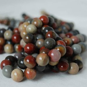 "Shop Red Jasper Beads! High Quality Grade A Natural Imperial Jasper Semi-precious Gemstone Round Beads – 6mm, 8mm, 10mm sizes – 15.5"" strand 
