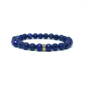 Shop Lapis Lazuli Bracelets! Lapis bracelet – dainty bracelet | Natural genuine Lapis Lazuli bracelets. Buy crystal jewelry, handmade handcrafted artisan jewelry for women.  Unique handmade gift ideas. #jewelry #beadedbracelets #beadedjewelry #gift #shopping #handmadejewelry #fashion #style #product #bracelets #affiliate #ad