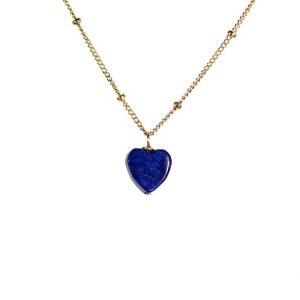 Shop Lapis Lazuli Necklaces! Lapis necklace – heart necklace – december birthstone – blue necklace – a blue heart on a 14k gold vermeil chain | Natural genuine Lapis Lazuli necklaces. Buy crystal jewelry, handmade handcrafted artisan jewelry for women.  Unique handmade gift ideas. #jewelry #beadednecklaces #beadedjewelry #gift #shopping #handmadejewelry #fashion #style #product #necklaces #affiliate #ad
