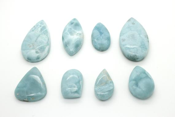 Natural Dominican Larimar Rough Chips Rock Stone Gemstone Variety Shape Flat Drop Oval Marquise Round Beads For Pendant