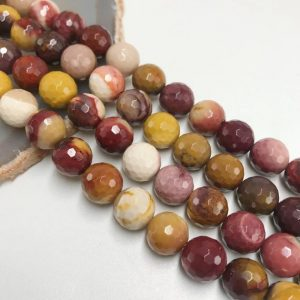 "Shop Mookaite Beads! Mookaite Jasper Faceted Round Beads 3mm 4mm 6mm 8mm 10mm 15.5"" Strand 