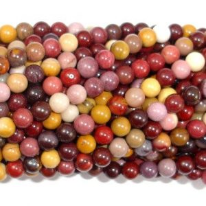 Shop Mookaite Jasper Round Beads! Mookaite Beads, 4mm (4.5 mm) Round Beads, 15.5 Inch, Full strand, Approx 92 beads, Hole 0.6 mm, A quality (320054009) | Natural genuine round Mookaite Jasper beads for beading and jewelry making.  #jewelry #beads #beadedjewelry #diyjewelry #jewelrymaking #beadstore #beading #affiliate #ad