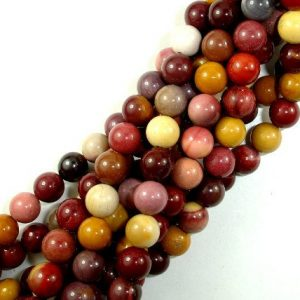 Mookaite Beads, Round, 8mm, 15.5 Inch, Full strand, Approx 46 beads, Hole 1 mm, A quality (320054002) | Natural genuine round Mookaite beads for beading and jewelry making.  #jewelry #beads #beadedjewelry #diyjewelry #jewelrymaking #beadstore #beading #affiliate #ad