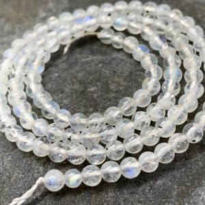 Rainbow Moonstone Rondelle Round  Beads 5mm  / Natural Moonstone Beads  / Glowing Moonstone  Gemstone Beads / | Natural genuine rondelle Moonstone beads for beading and jewelry making.  #jewelry #beads #beadedjewelry #diyjewelry #jewelrymaking #beadstore #beading #affiliate #ad
