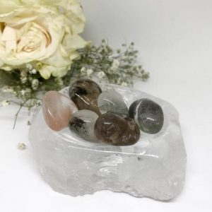 Shop Tumbled Quartz Crystals & Pocket Stones! Tumbled Rare Lodolite Quartz  –  The Stone for Peace and Healing | Natural genuine stones & crystals in various shapes & sizes. Buy raw cut, tumbled, or polished gemstones for making jewelry or crystal healing energy vibration raising reiki stones. #crystals #gemstones #crystalhealing #crystalsandgemstones #energyhealing #affiliate #ad