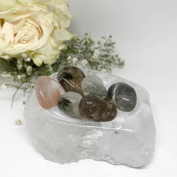 Tumbled Rare Lodolite Quartz - The Stone For Peace And Healing