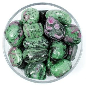 Shop Ruby Zoisite Stones & Crystals! One 1 Ruby Zoisite Tumbled Stone, Ruby Zoisite Tumbled Stones, Ruby Zoisite Tumbled Stone, Ruby Zoisite Gemstones, Gemstones Ruby In Zoisite | Natural genuine stones & crystals in various shapes & sizes. Buy raw cut, tumbled, or polished gemstones for making jewelry or crystal healing energy vibration raising reiki stones. #crystals #gemstones #crystalhealing #crystalsandgemstones #energyhealing #affiliate #ad