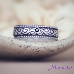 Shop Spinel Jewelry! Swirl Mens Engagement Ring, Sterling Silver Mens Wedding Ring | Moonkist Designs | Natural genuine Spinel jewelry. Buy handcrafted artisan wedding jewelry.  Unique handmade bridal jewelry gift ideas. #jewelry #beadedjewelry #gift #crystaljewelry #shopping #handmadejewelry #wedding #bridal #jewelry #affiliate #ad