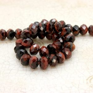 Shop Tiger Eye Faceted Beads! Natural Red Tiger Eye, Tiger's Eye Faceted Rondelle Loose Gemstone Stone Beads | Natural genuine faceted Tiger Eye beads for beading and jewelry making.  #jewelry #beads #beadedjewelry #diyjewelry #jewelrymaking #beadstore #beading #affiliate #ad