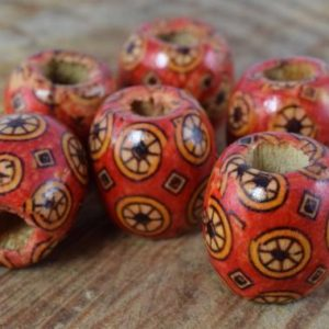 Shop Beads With Large Holes! 16mm Exotic Wooden Barrel Round Beads/Wooden Beads/ Floral Wooden/Leopard Wooden Beads/ Natural Large Hole Beads/Wooden Jewelry, | Shop jewelry making and beading supplies, tools & findings for DIY jewelry making and crafts. #jewelrymaking #diyjewelry #jewelrycrafts #jewelrysupplies #beading #affiliate #ad