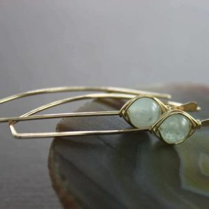 Pale blue aquamarine gold filled threader earrings – Aquamarine earrings – March birthstone earrings – Minimalist earrings – ER004 | Natural genuine Gemstone earrings. Buy crystal jewelry, handmade handcrafted artisan jewelry for women.  Unique handmade gift ideas. #jewelry #beadedearrings #beadedjewelry #gift #shopping #handmadejewelry #fashion #style #product #earrings #affiliate #ad