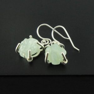 Shop Aquamarine Earrings! Rough Aquamarine Earrings in Sterling Silver – March Birthstone – Rough Gemstone Jewelry | Natural genuine Aquamarine earrings. Buy crystal jewelry, handmade handcrafted artisan jewelry for women.  Unique handmade gift ideas. #jewelry #beadedearrings #beadedjewelry #gift #shopping #handmadejewelry #fashion #style #product #earrings #affiliate #ad
