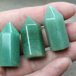 Aventurine Obelisk Calibrated M16 | Natural genuine stones & crystals in various shapes & sizes. Buy raw cut, tumbled, or polished gemstones for making jewelry or crystal healing energy vibration raising reiki stones. #crystals #gemstones #crystalhealing #crystalsandgemstones #energyhealing #affiliate #ad
