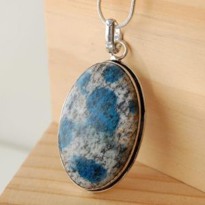 Shop Azurite Pendants! K2 Necklace, K2 Pendant, K2 Stone, Rare Stone, Unique Pendants, Spiritual Jewelry, Azurite Stone, Crystal Jewelry, High Vibrational Stone | Natural genuine Azurite pendants. Buy crystal jewelry, handmade handcrafted artisan jewelry for women.  Unique handmade gift ideas. #jewelry #beadedpendants #beadedjewelry #gift #shopping #handmadejewelry #fashion #style #product #pendants #affiliate #ad