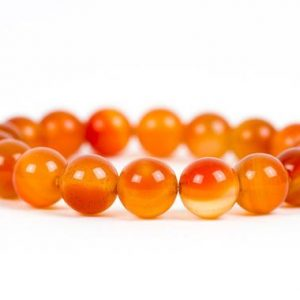 Carnelian Gemstone Bracelet, Red And Orange Gemstone Bracelet, 10mm Carnelian Beads Energy Chakra Stretch Bracelet | Natural genuine Carnelian bracelets. Buy crystal jewelry, handmade handcrafted artisan jewelry for women.  Unique handmade gift ideas. #jewelry #beadedbracelets #beadedjewelry #gift #shopping #handmadejewelry #fashion #style #product #bracelets #affiliate #ad