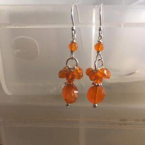Shop Carnelian Earrings! Orange Earrings – Carnelian Gemstone Jewelry – Sterling Silver Jewellery – Beaded – Pierced | Natural genuine Carnelian earrings. Buy crystal jewelry, handmade handcrafted artisan jewelry for women.  Unique handmade gift ideas. #jewelry #beadedearrings #beadedjewelry #gift #shopping #handmadejewelry #fashion #style #product #earrings #affiliate #ad
