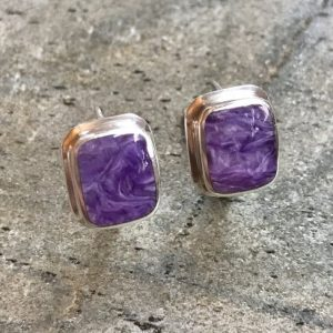 Shop Charoite Jewelry! Charoite Earrings, Natural Charoite, Scorpio Earrings, Scorpio Birthstone, Healing Stones, Square Earrings, Purple Earrings, Charoite, 925 | Natural genuine Charoite jewelry. Buy crystal jewelry, handmade handcrafted artisan jewelry for women.  Unique handmade gift ideas. #jewelry #beadedjewelry #beadedjewelry #gift #shopping #handmadejewelry #fashion #style #product #jewelry #affiliate #ad