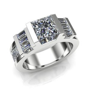 Luxury Diamond Same Sex Engagement Ring, Dazzling Geometric Design | Natural genuine Gemstone rings, simple unique alternative gemstone engagement rings. #rings #jewelry #bridal #wedding #jewelryaccessories #engagementrings #weddingideas #affiliate #ad