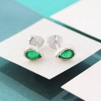 Emerald Studs, May Birthstone Earrings, Silver Earrings, Silver Gemstone Earrings, May Birthday Gift, Stud Earrings, Simple Earrings, Studs | Natural genuine Gemstone jewelry. Buy crystal jewelry, handmade handcrafted artisan jewelry for women.  Unique handmade gift ideas. #jewelry #beadedjewelry #beadedjewelry #gift #shopping #handmadejewelry #fashion #style #product #jewelry #affiliate #ad