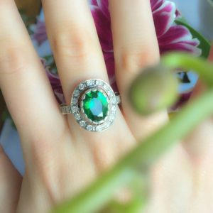 Emerald Ring, Antique Ring, Vintage Ring, Antique Emerald Ring, Antique Rings, Sterling Silver Ring, Green Vintage Ring | Natural genuine Emerald rings, simple unique handcrafted gemstone rings. #rings #jewelry #shopping #gift #handmade #fashion #style #affiliate #ad