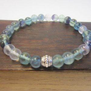 Shop Fluorite Bracelets! Flourite Bracelet, Healing Fluorite Bracelet, Concentration & Focus Bracelet Fluorite Crown Chakra Bracelet Fluorite Protective Bracelet | Natural genuine Fluorite bracelets. Buy crystal jewelry, handmade handcrafted artisan jewelry for women.  Unique handmade gift ideas. #jewelry #beadedbracelets #beadedjewelry #gift #shopping #handmadejewelry #fashion #style #product #bracelets #affiliate #ad