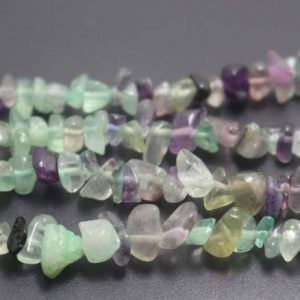 Shop Fluorite Chip & Nugget Beads! Natural Rainbow Fluorite Chip Beads, Green and Purple Fluorite Nugget Beads supply,32 inches one starand | Natural genuine chip Fluorite beads for beading and jewelry making.  #jewelry #beads #beadedjewelry #diyjewelry #jewelrymaking #beadstore #beading #affiliate #ad