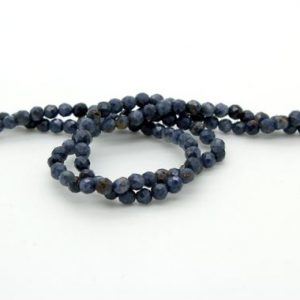 Shop Iolite Faceted Beads! Natural Iolite, Iolite Faceted Sphere Ball Round Natural Gemstone Beads Stones – 2mm 3mm – Grade A | Natural genuine faceted Iolite beads for beading and jewelry making.  #jewelry #beads #beadedjewelry #diyjewelry #jewelrymaking #beadstore #beading #affiliate #ad