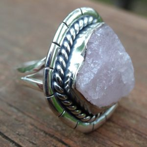 Shop Kunzite Rings! Handmade Sterling Silver Natural Rough Kunzite RING Size 9 – Sterling Silver Ring – rough Pink Kunzite Silver ring size 9 – Kunzite Ring | Natural genuine Kunzite rings, simple unique handcrafted gemstone rings. #rings #jewelry #shopping #gift #handmade #fashion #style #affiliate #ad