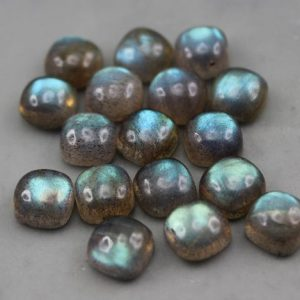 Shop Labradorite Cabochons! Cushion Cut Labradorite Cabochons | Natural genuine stones & crystals in various shapes & sizes. Buy raw cut, tumbled, or polished gemstones for making jewelry or crystal healing energy vibration raising reiki stones. #crystals #gemstones #crystalhealing #crystalsandgemstones #energyhealing #affiliate #ad