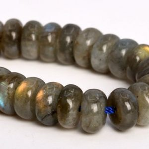 """Shop Labradorite Rondelle Beads! 8x4mm Gray Labradorite Beads Grade Aa Genuine Natural Gemstone Half Strand Rondelle Loose Beads 7.5"""" Bulk Lot 1, 3, 5, 10 And 50 (105050h-1442) 