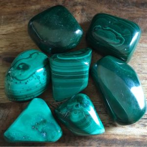 Shop Tumbled Malachite Crystals & Pocket Stones! Malachite Medium Tumbled Stone, Stone of Transformation, Protective Stone,Healing Stone, Spiritual Stone, Activates the Chakra | Natural genuine stones & crystals in various shapes & sizes. Buy raw cut, tumbled, or polished gemstones for making jewelry or crystal healing energy vibration raising reiki stones. #crystals #gemstones #crystalhealing #crystalsandgemstones #energyhealing #affiliate #ad