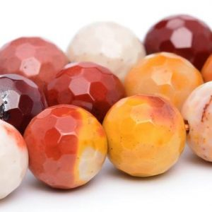 Shop Mookaite Jasper Faceted Beads! Mookaite Beads Grade AAA Genuine Natural Gemstone Micro Faceted Round Loose Beads 6MM 8MM 10MM 12MM Bulk Lot Options | Natural genuine faceted Mookaite Jasper beads for beading and jewelry making.  #jewelry #beads #beadedjewelry #diyjewelry #jewelrymaking #beadstore #beading #affiliate #ad