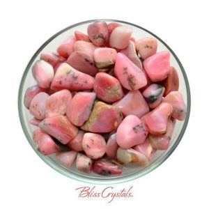 Shop Tumbled Opal Crystals & Pocket Stones! 1 PINK OPAL Tumbled Stone Crystal for Heart Healing #PT79 | Natural genuine stones & crystals in various shapes & sizes. Buy raw cut, tumbled, or polished gemstones for making jewelry or crystal healing energy vibration raising reiki stones. #crystals #gemstones #crystalhealing #crystalsandgemstones #energyhealing #affiliate #ad