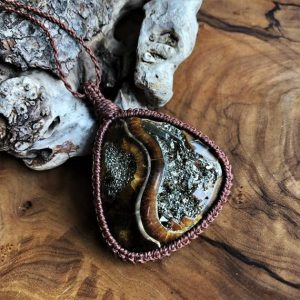 Shop Pyrite Necklaces! Ammonite, Simbircite, Pyrite, Husband Gift, Boyfriend Necklace, Man Jewellery, Macrame, Christmas Gift, Rare Stone, Healing Crystal, Wraped | Natural genuine Pyrite necklaces. Buy crystal jewelry, handmade handcrafted artisan jewelry for women.  Unique handmade gift ideas. #jewelry #beadednecklaces #beadedjewelry #gift #shopping #handmadejewelry #fashion #style #product #necklaces #affiliate #ad