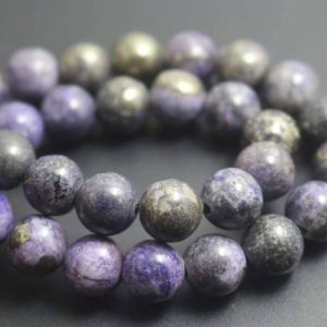 Shop Pyrite Beads! Purple Iron Pyrite Smooth Round Beads, 4mm / 6mm / 8mm / 10mm / 12mm Beads Supply, 15 Inches One Starand | Natural genuine beads Pyrite beads for beading and jewelry making.  #jewelry #beads #beadedjewelry #diyjewelry #jewelrymaking #beadstore #beading #affiliate #ad