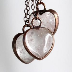 Shop Quartz Crystal Pendants! Crystal Heart Pendant – Quartz Crystal Pendant – Crystal Heart Necklace | Natural genuine Quartz pendants. Buy crystal jewelry, handmade handcrafted artisan jewelry for women.  Unique handmade gift ideas. #jewelry #beadedpendants #beadedjewelry #gift #shopping #handmadejewelry #fashion #style #product #pendants #affiliate #ad