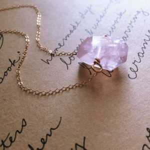 Shop Healing Gemstone & Crystal Pendants! Rose Quartz Moon Necklace – Raw Crystal Necklace – Pendant Necklace – Gift For Her – Healing Heart Chakra Jewelry – Gemstone Necklace | Natural genuine Gemstone pendants. Buy crystal jewelry, handmade handcrafted artisan jewelry for women.  Unique handmade gift ideas. #jewelry #beadedpendants #beadedjewelry #gift #shopping #handmadejewelry #fashion #style #product #pendants #affiliate #ad