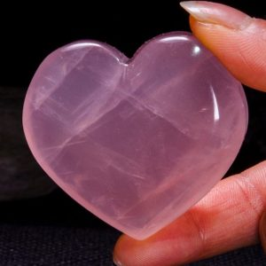 Shop Rose Quartz Shapes! Best Clear Hand Carved Pink Quartz Polished Heart Shaped/Rose Quartz Love Stone/Pink Heart/Rose Quartz Heart/Jewelry/Special gift/#4403 | Natural genuine stones & crystals in various shapes & sizes. Buy raw cut, tumbled, or polished gemstones for making jewelry or crystal healing energy vibration raising reiki stones. #crystals #gemstones #crystalhealing #crystalsandgemstones #energyhealing #affiliate #ad