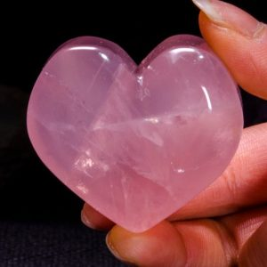 Shop Rose Quartz Shapes! Best Clear Hand Carved Pink Quartz Polished Heart Shaped/Rose Quartz Love Stone/Pink Heart/Rose Quartz Heart/Jewelry/Special gift/#4399 | Natural genuine stones & crystals in various shapes & sizes. Buy raw cut, tumbled, or polished gemstones for making jewelry or crystal healing energy vibration raising reiki stones. #crystals #gemstones #crystalhealing #crystalsandgemstones #energyhealing #affiliate #ad